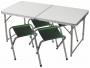 Стол + 4 стула Taiga 1812-1B в чехле
