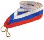 Лента Россия с бронзовой нитью W/BL/RD-B