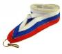 Лента Россия с золотой нитью W/BL/RD-G