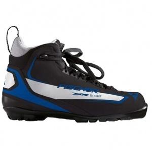 Ботинки лыжные Fischer XC Sport Black/Blue NNN для беговых лыж