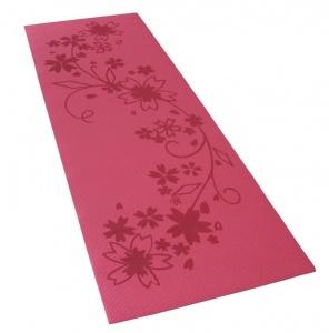 Коврик для фитнеса и йоги Alonsa красный с чехлом