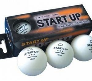 Мяч для настольного тенниса Start Up 2 (в комплекте 3 шт.)