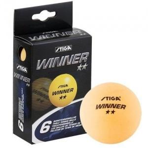 Мяч для настольного тенниса Stiga Winner 2* (в комплекте 6 шт.)